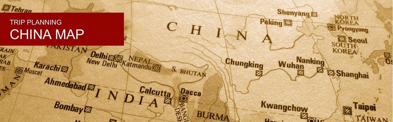 Map of China Por Destinations | TCTC Map Desh on